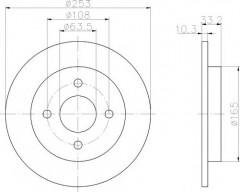 Комплект тормозных дисков TEXTAR 92088403 (2 шт.)
