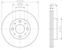 Комплект тормозных дисков TEXTAR 92090300 (2 шт.)