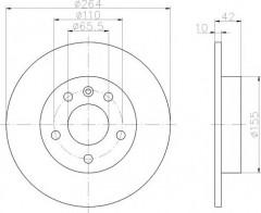 Комплект тормозных дисков TEXTAR 92092103 (2 шт.)