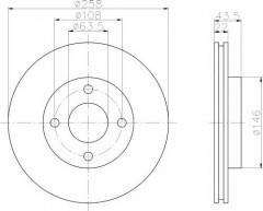 Комплект тормозных дисков TEXTAR 92096203 (2 шт.)