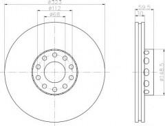 Комплект тормозных дисков TEXTAR 92098303 (2 шт.)