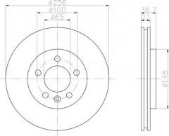 Комплект тормозных дисков TEXTAR 92098603 (2 шт.)
