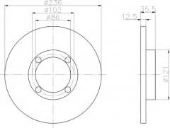 Комплект тормозных дисков TEXTAR 92100300 (2 шт.)