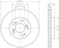 Комплект тормозных дисков TEXTAR 92101000 (2 шт.)