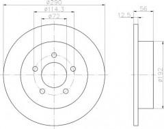 Комплект тормозных дисков TEXTAR 92108400 (2 шт.)
