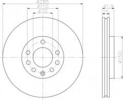 Комплект тормозных дисков TEXTAR 92118703 (2 шт.)