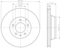 Комплект тормозных дисков TEXTAR 92122005 (2 шт.)