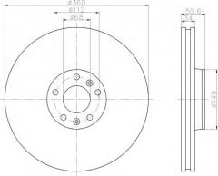 Комплект тормозных дисков TEXTAR 92122203 (2 шт.)