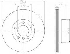 Комплект тормозных дисков TEXTAR 92122503 (2 шт.)