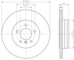 Комплект тормозных дисков TEXTAR 92122703 (2 шт.)