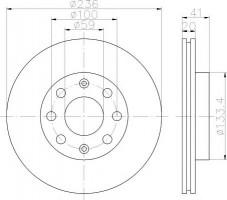 Комплект тормозных дисков TEXTAR 92133400 (2 шт.)