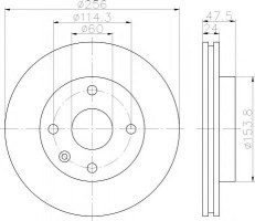 Комплект тормозных дисков TEXTAR 92133500 (2 шт.)