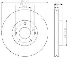 Комплект тормозных дисков TEXTAR 92133903 (2 шт.)