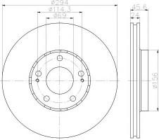 Комплект тормозных дисков TEXTAR 92135203 (2 шт.)