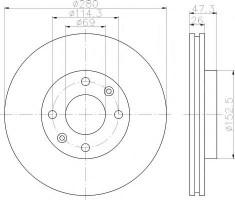 Комплект тормозных дисков TEXTAR 92136600 (2 шт.)