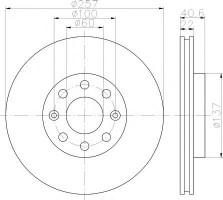 Комплект тормозных дисков TEXTAR 92145703 (2 шт.)