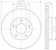 Комплект тормозных дисков TEXTAR 92146503 (2 шт.)