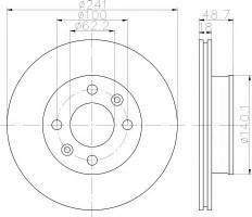 Комплект тормозных дисков TEXTAR 92147100 (2 шт.)