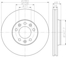 Комплект тормозных дисков TEXTAR 92156900 (2 шт.)