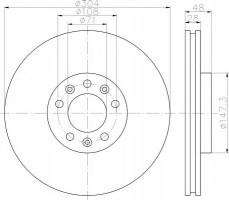Комплект тормозных дисков TEXTAR 92157000 (2 шт.)