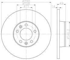 Комплект тормозных дисков TEXTAR 92157100 (2 шт.)