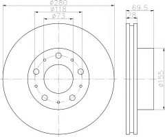 Комплект тормозных дисков TEXTAR 92157200 (2 шт.)