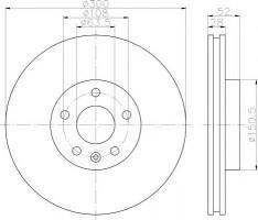 Комплект тормозных дисков TEXTAR 92159200 (2 шт.)
