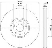 Комплект тормозных дисков TEXTAR 92160503 (2 шт.)