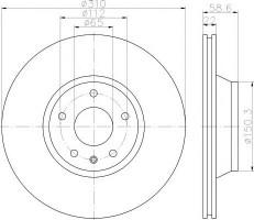 Комплект тормозных дисков TEXTAR 92160603 (2 шт.)