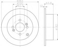 Комплект тормозных дисков TEXTAR 92161303 (2 шт.)