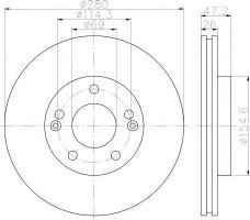 Комплект тормозных дисков TEXTAR 92161603 (2 шт.)