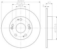 Комплект тормозных дисков TEXTAR 92164303 (2 шт.)