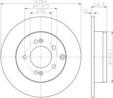 Комплект тормозных дисков TEXTAR 92166600 (2 шт.)