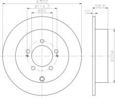 Комплект тормозных дисков TEXTAR 92167000 (2 шт.)