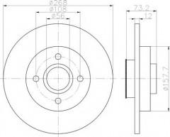 Комплект тормозных дисков TEXTAR 92168700 (2 шт.)