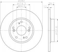 Комплект тормозных дисков TEXTAR 92173403 (2 шт.)