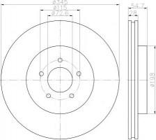 Комплект тормозных дисков TEXTAR 92177103 (2 шт.)