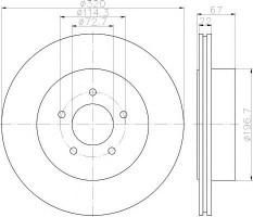 Комплект тормозных дисков TEXTAR 92177203 (2 шт.)