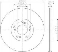 Комплект тормозных дисков TEXTAR 92177803 (2 шт.)
