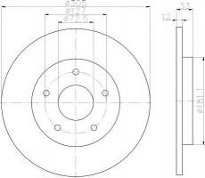 Комплект тормозных дисков TEXTAR 92181003 (2 шт.)