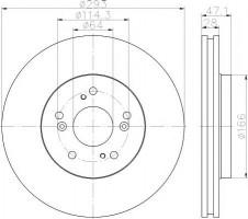 Комплект тормозных дисков TEXTAR 92184803 (2 шт.)