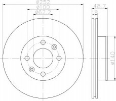 Комплект тормозных дисков TEXTAR 92196500 (2 шт.)
