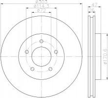Комплект тормозных дисков TEXTAR 92197703 (2 шт.)