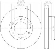 Комплект тормозных дисков TEXTAR 92203800 (2 шт.)