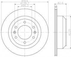 Комплект тормозных дисков TEXTAR 92203900 (2 шт.)