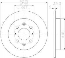 Комплект тормозных дисков TEXTAR 92204000 (2 шт.)