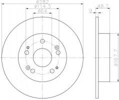 Комплект тормозных дисков TEXTAR 92204300 (2 шт.)