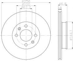 Комплект тормозных дисков TEXTAR 92204900 (2 шт.)