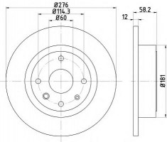 Комплект тормозных дисков TEXTAR 92225103 (2 шт.)