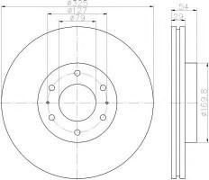 Комплект тормозных дисков TEXTAR 92226200 (2 шт.)